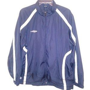 Umbro Mens Sz Lg 42 Windbreaker Jacket Full Zip Up